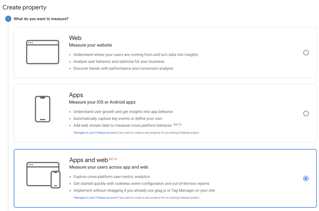 Screenshot 2020 07 09 at 13.49.30 | Google analytics App + Web (GA4) : Installation et Configuration