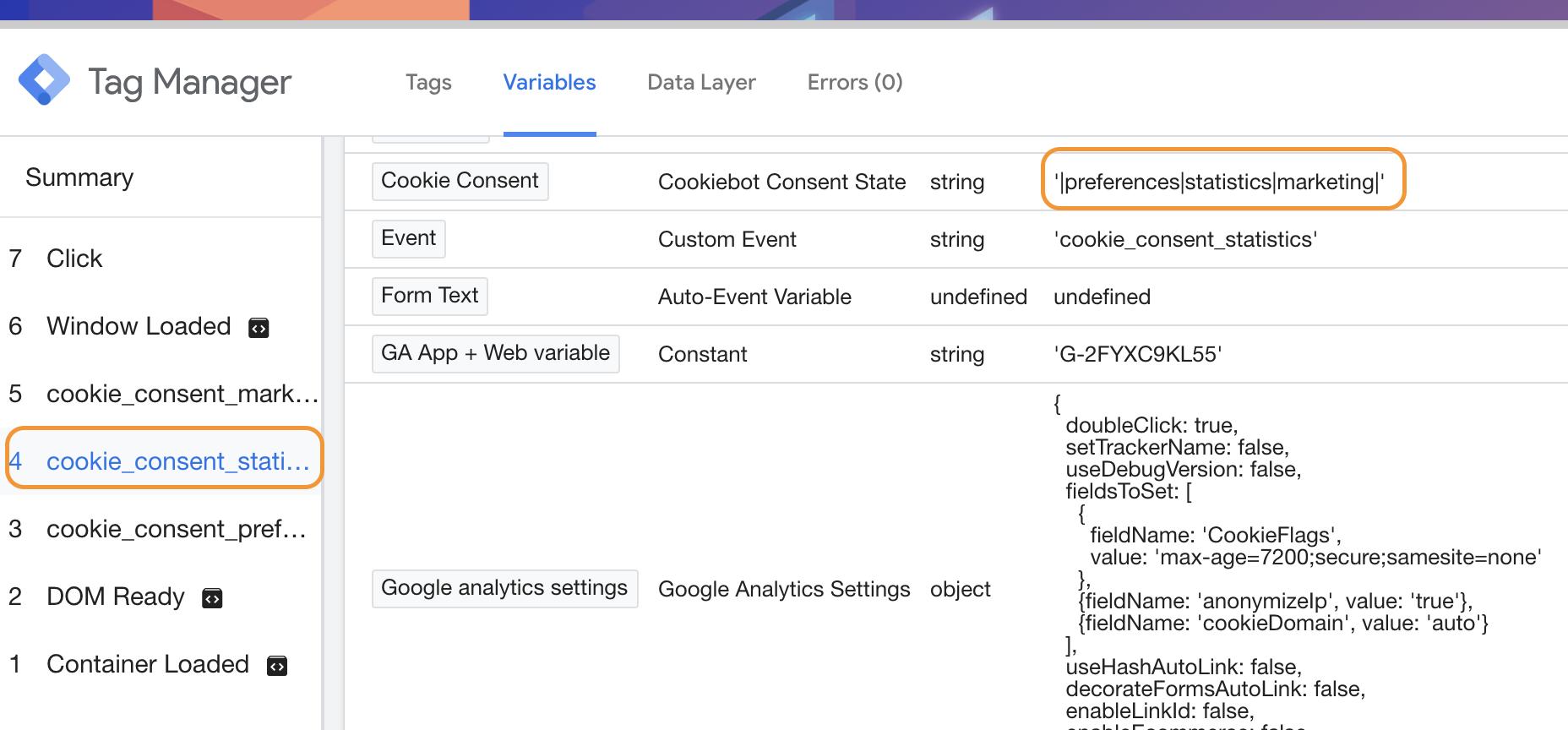 Screenshot 2020 07 22 at 15.24.11 | CookieBot : Installation via Google tag Manager et configuration