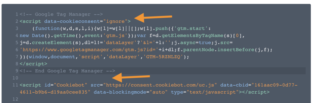 Screenshot 2020 09 02 at 14.03.23 | CookieBot : Installation via Google tag Manager et configuration