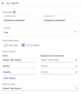 Screenshot 2020 08 28 at 14.55.25   Google Data Studio : créer un filtre permettant de changer de dimension