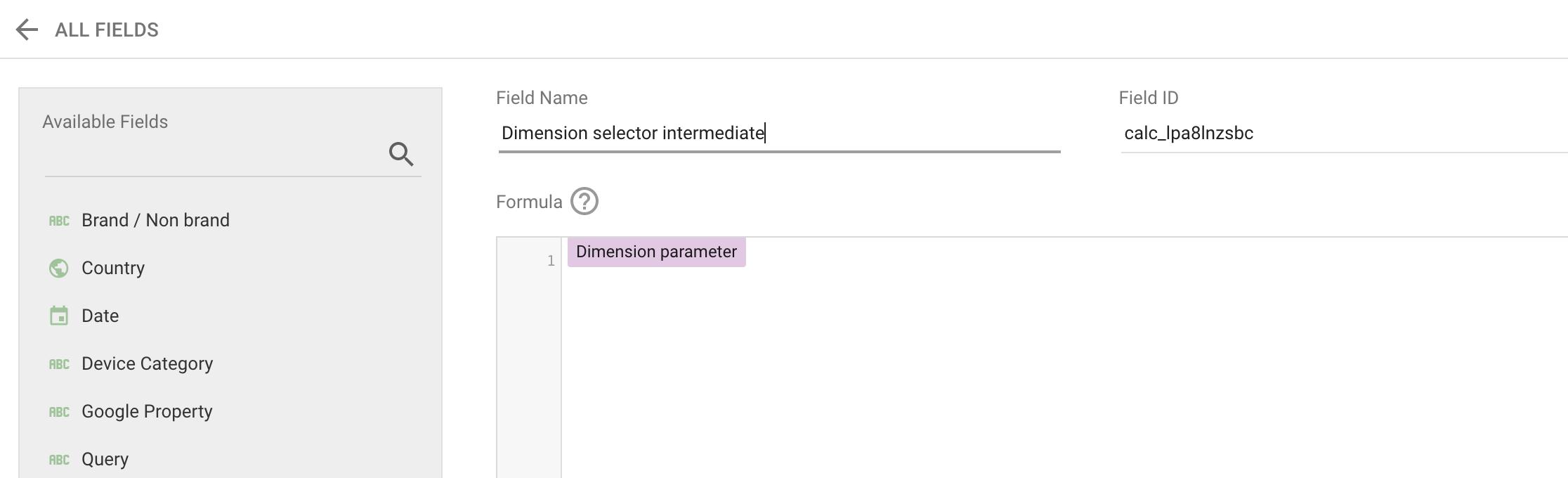 Screenshot 2020 08 28 at 15.00.33   Google Data Studio : créer un filtre permettant de changer de dimension