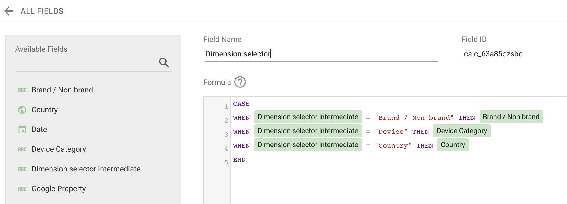 Screenshot 2020 08 28 at 15.03.11   Google Data Studio : créer un filtre permettant de changer de dimension
