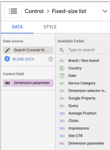 Screenshot 2020 08 28 at 15.07.53   Google Data Studio : créer un filtre permettant de changer de dimension