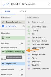 Screenshot 2020 08 28 at 15.12.38   Google Data Studio : créer un filtre permettant de changer de dimension