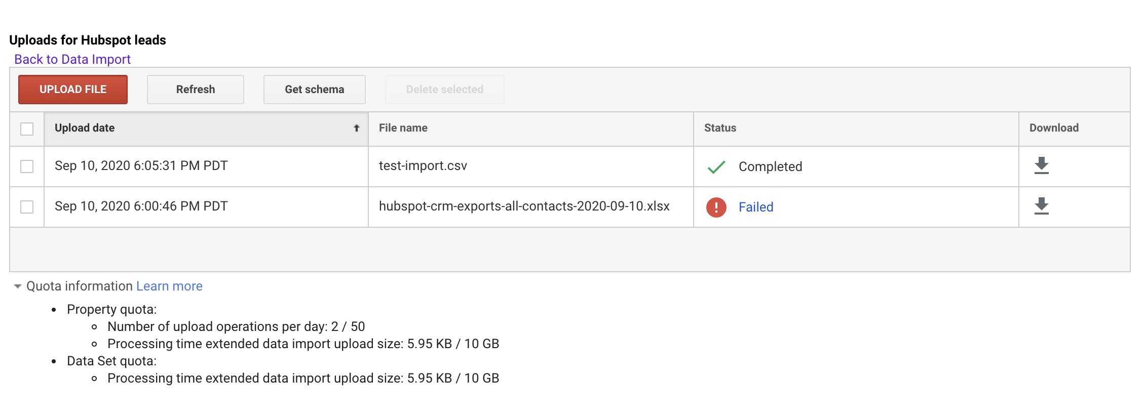 Screenshot 2020 09 11 at 11.31.52 | Importer ses données CRM dans Google Analytics