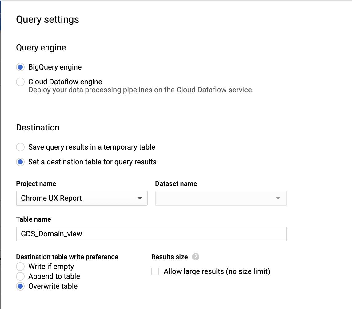 Screenshot 2020 07 02 at 12.11.26   Chrome User Experience Report : explorer les données dans Big Query