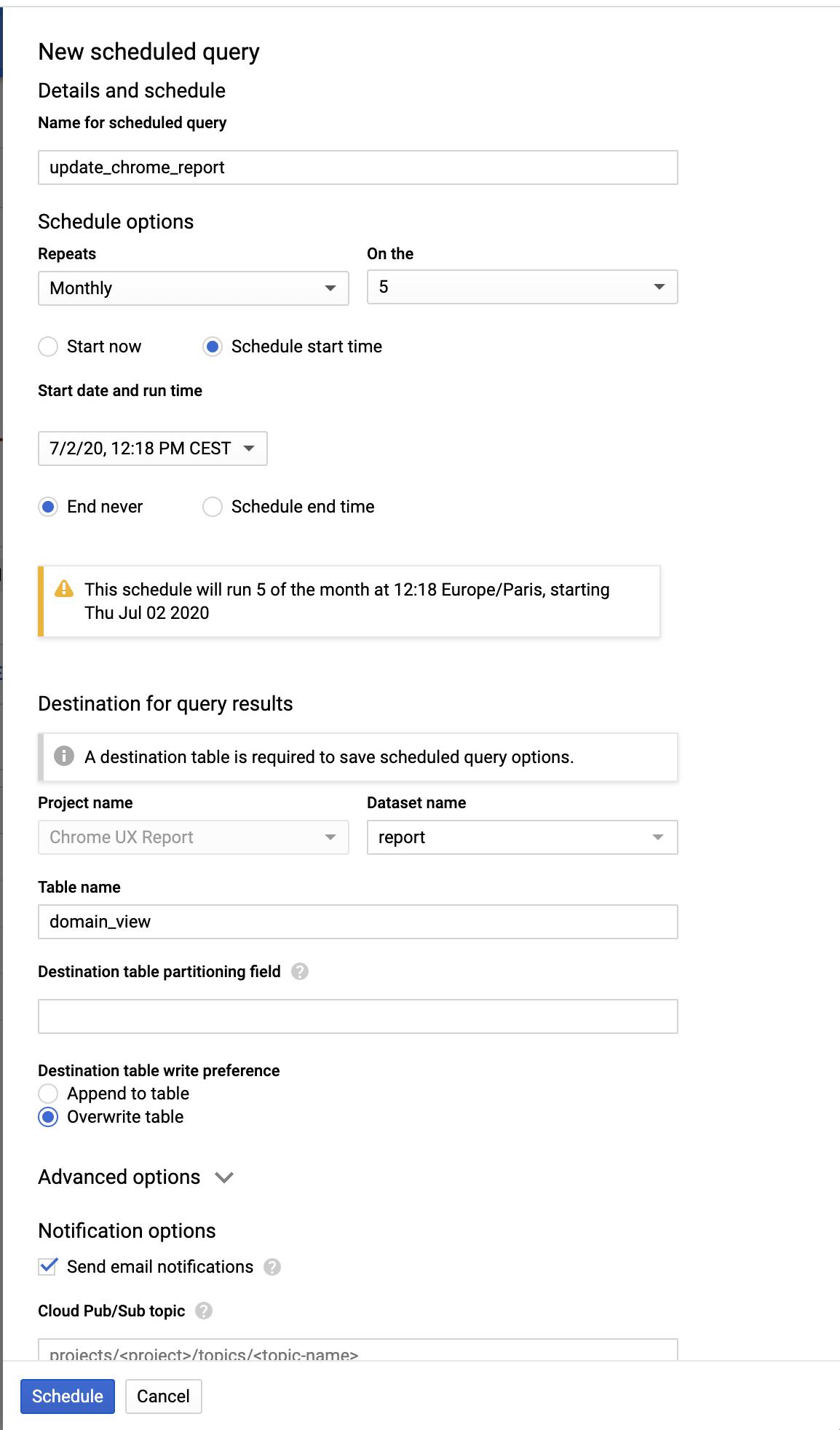 Screenshot 2020 07 02 at 12.21.00   Chrome User Experience Report : explorer les données dans Big Query
