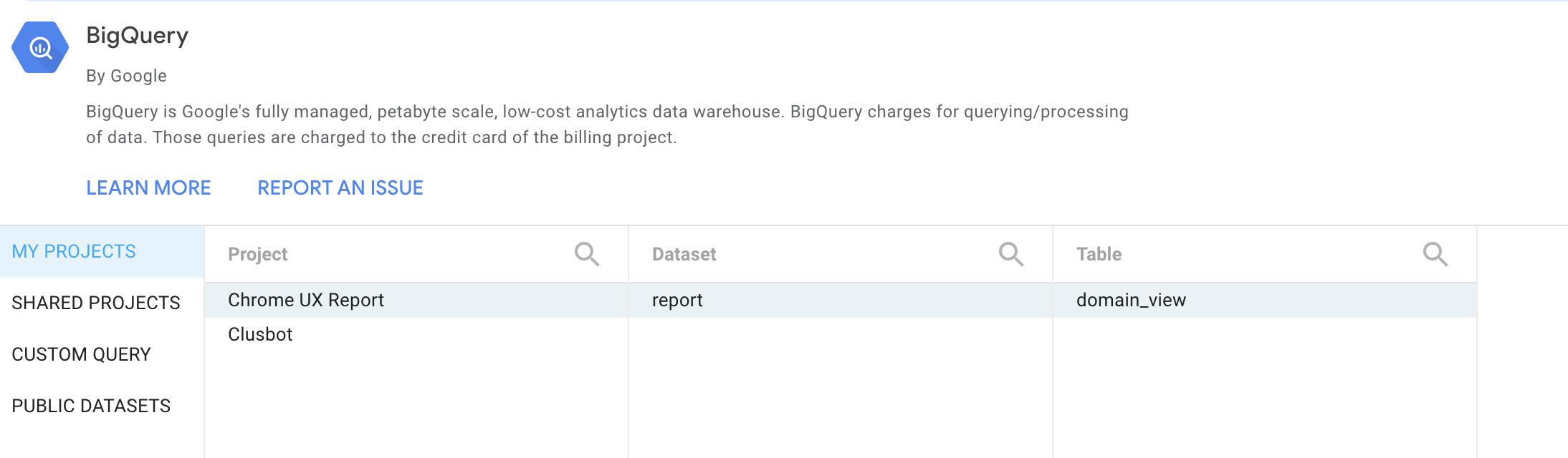 Screenshot 2020 07 02 at 12.25.46   Chrome User Experience Report : explorer les données dans Big Query