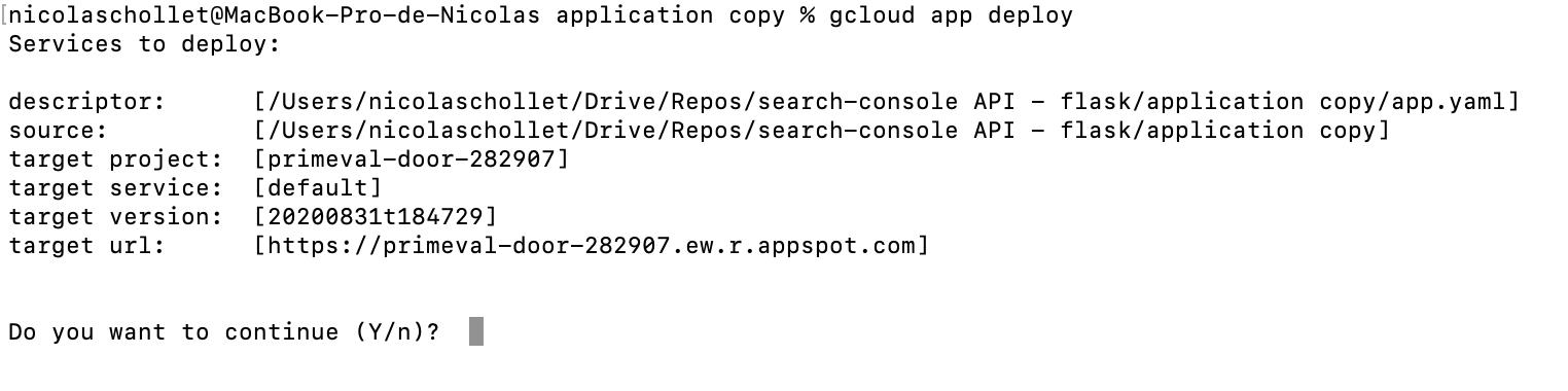 Screenshot 2020 08 31 at 18.47.51 | Tutoriel : déployer une application Python avec Google App Engine