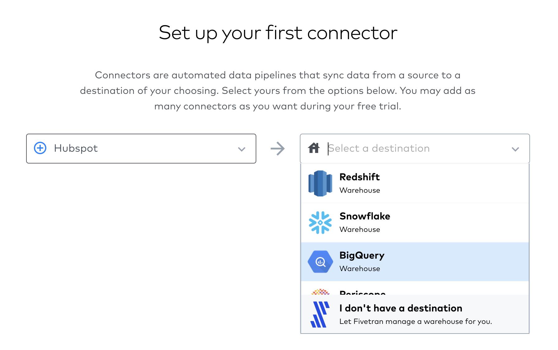 Screenshot 2020 09 23 at 17.41.08 | Tutoriel Fivetran : importer ses données dans Big Query