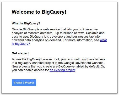 bq welcome   Chrome User Experience Report : explorer les données dans Big Query