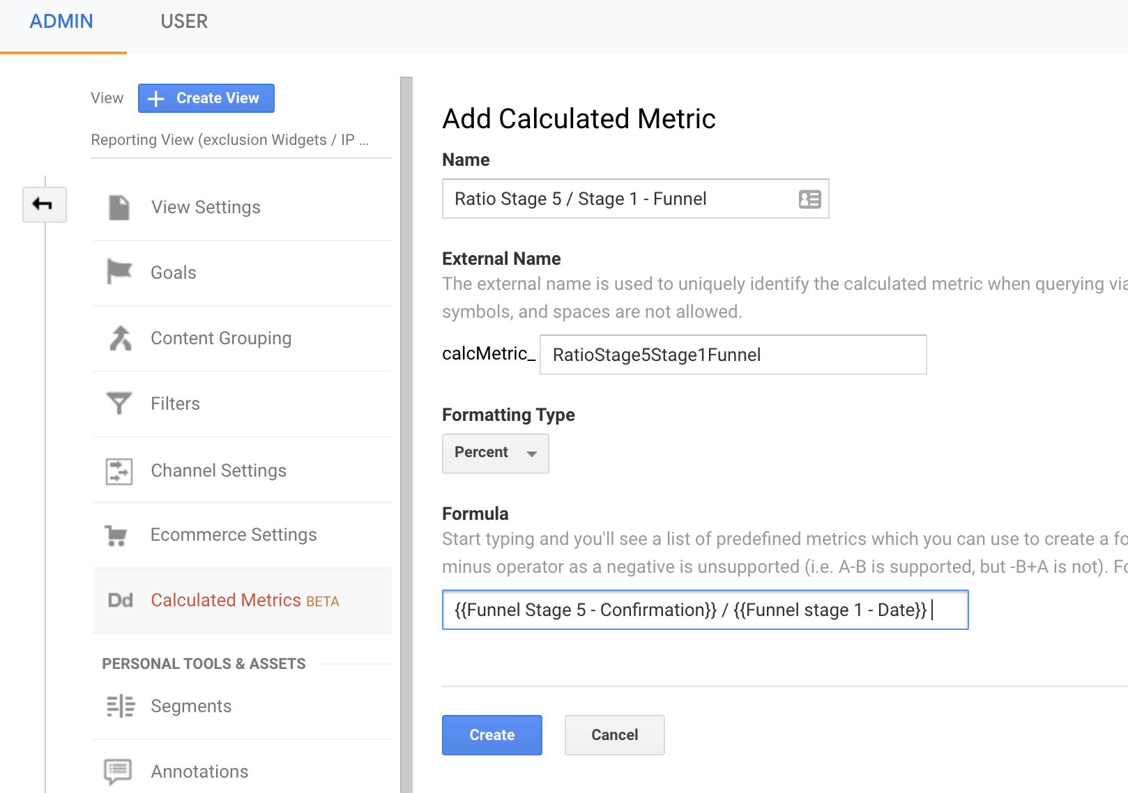 Screenshot 2020 11 09 at 16.39.44 | Custom metrics dans Google Analytics pour analyser un tunnel de conversion