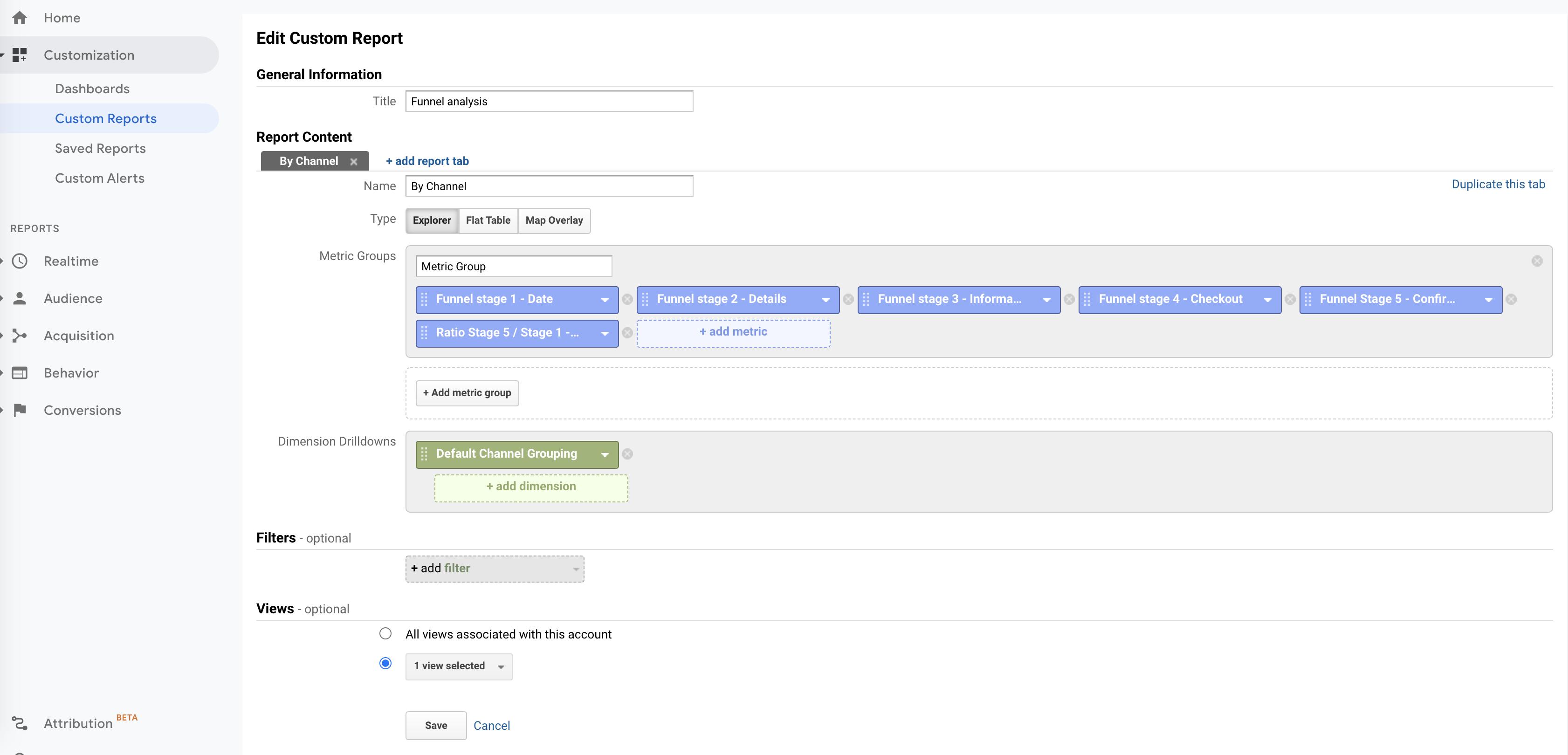 Screenshot 2020 11 09 at 16.41.34 | Custom metrics dans Google Analytics pour analyser un tunnel de conversion